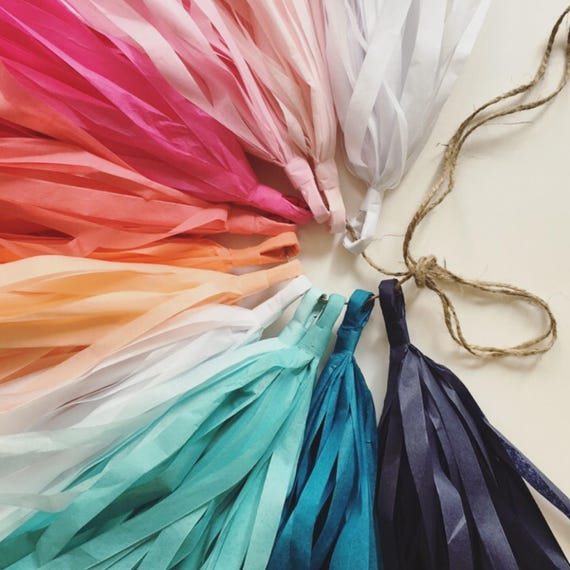 SUNSET And SEA Tassel Garland Tissue Paper Party Decorations