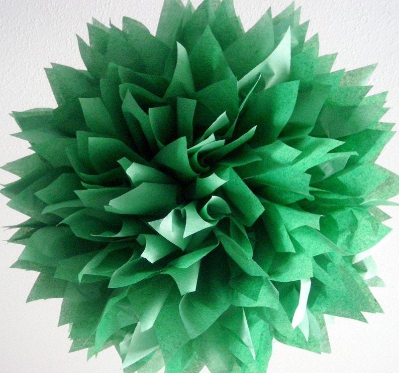 Dunkelgrün Seidenpapier Bommel Wald Wald Thema Etsy