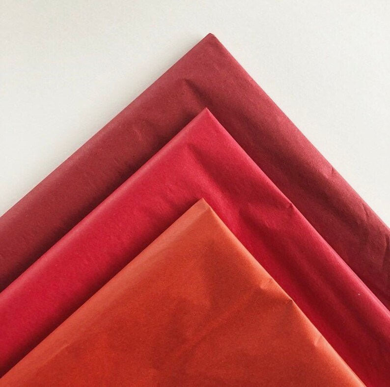 TISSUE PAPER SHEETS retail and gift wrapping craft supply packaging diy art project decoupage pompoms holiday present colored color decorate