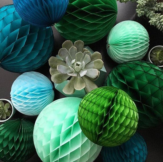Sale Honeycomb Ball 5 Inch Tissue Paper Decorations Reusable Etsy