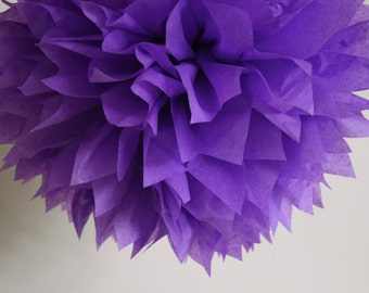 ULTRA VIOLET tissue paper pom wedding engagement reception decorations bright purple baby bridal shower girl first 30th birthday mcstuffins