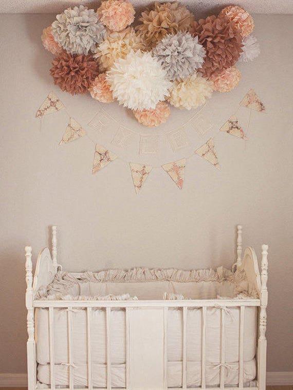 Strange Nursery Poms 15 Tissue Paper Pom Poms Wedding Home Interior And Landscaping Dextoversignezvosmurscom