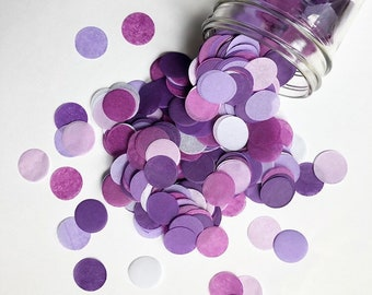 PURPLE OMBRE tissue paper confetti cake table wedding send off exit first 30th birthday decorations balloon baby bridal shower bachelorette