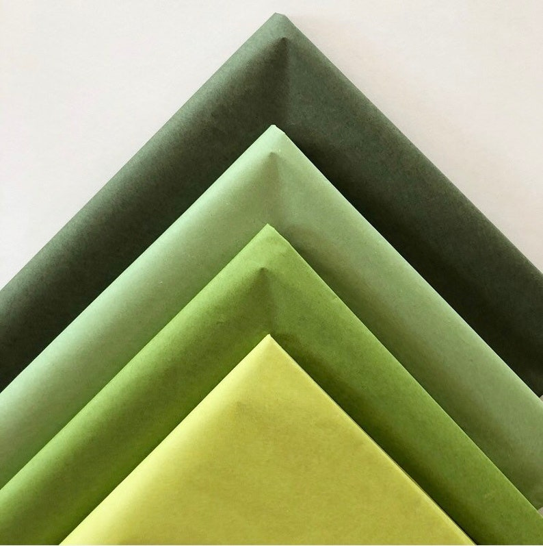 TISSUE PAPER SHEETS sage olive chartreuse moss green retail image 0
