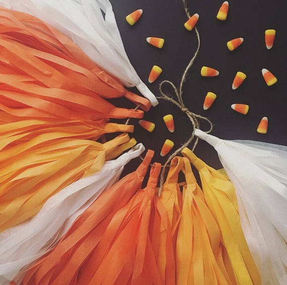 Candy Corn Tassel Garland Halloween Theme Day Of The Dead