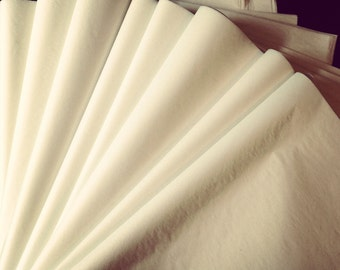 Ivory or Bright White Tissue Paper  50 Sheets / gift bag present wrapping craft supply retail shop product packaging diy art project decor