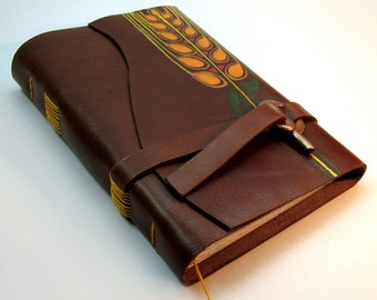 Nature's Gift - Leather Diary - one of a kind