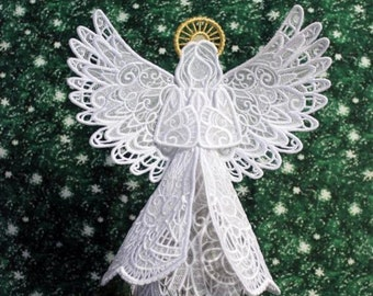 Sparkling Lace Angel Tree Topper.