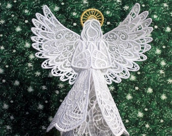 Sparkling Lace Angel Tree Topper