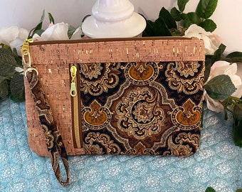 Cork Quilted Clutch Purse