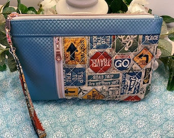 Road Trip Quilted Zippy Clutch
