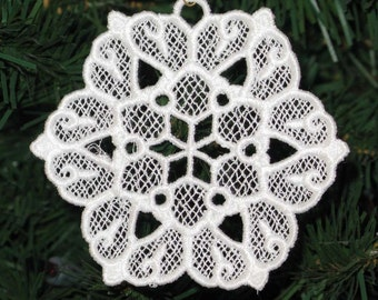 Star Embroidered Snowflake