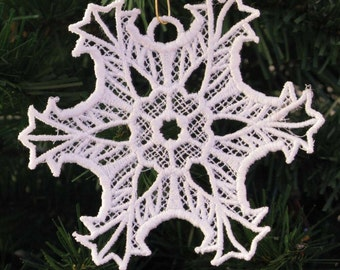 Frosty Window Embroidered Snowflake