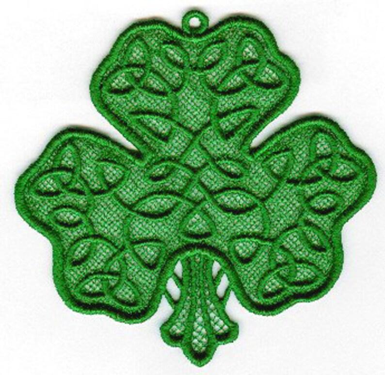 Celtic Shamrock Lace image 0