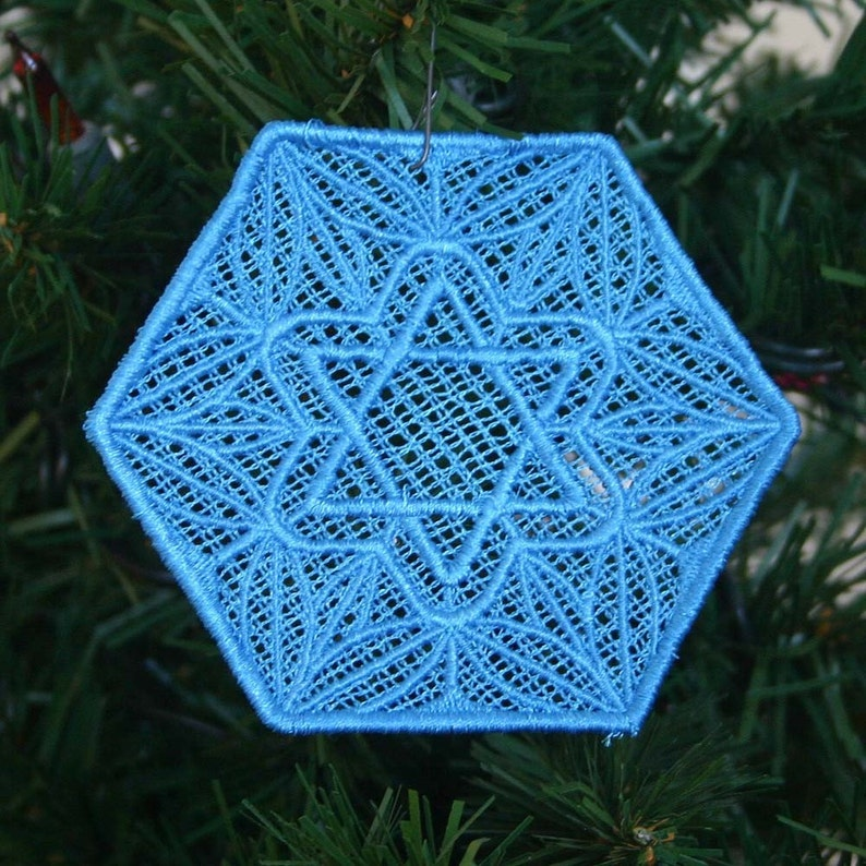 Hanukkah Star Hexagon Lace image 0