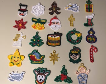 Set of 24 Christmas Miniature Advent Ornaments with Baby Jesus