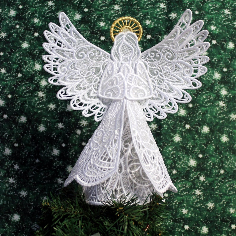 Sparkling Lace Angel Tree Topper image 0