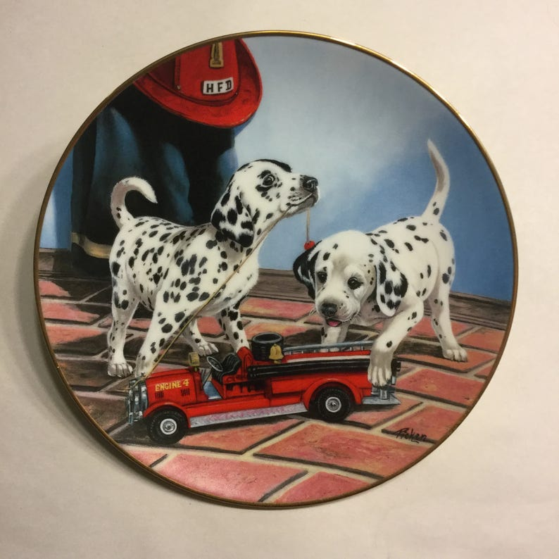 Dalmatian Plate All Fired Up image 0