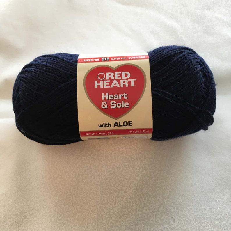 SALE: Red Heart Heart & Sole Sock Yarn  Navy image 0