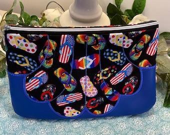 Flip Flops Lined Seaside Bag