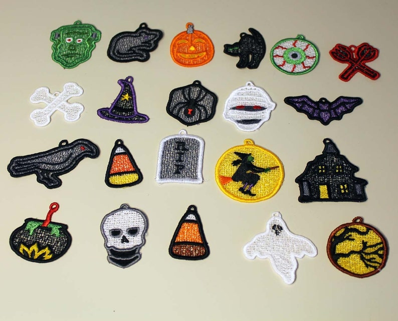 Halloween Lace Charms  set of 21 image 0