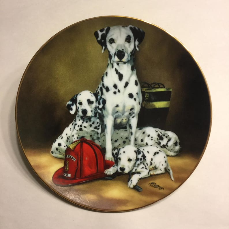 Dalmatian Collector Plate The Fire Brigade image 0