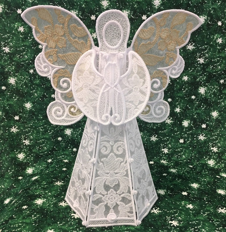 Sparkling Damask Angel Tree Topper image 0