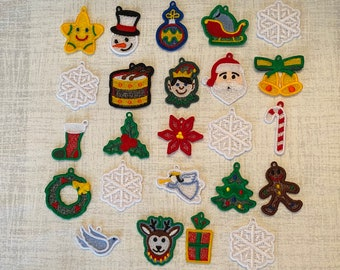 Set of 24 Christmas Lace Miniature/Advent Ornaments
