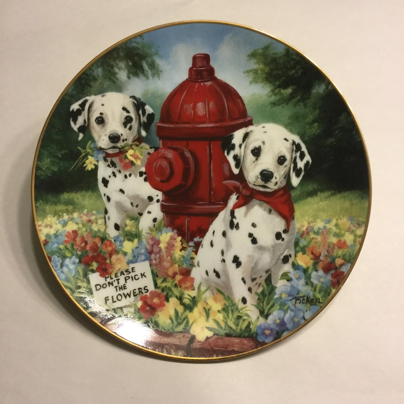 Dalmatian Collector Plate Please Don't Pick the image 0