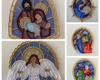 Nativity Lace Set of Five