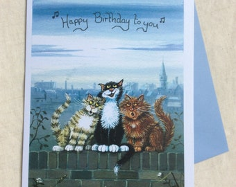 Happy Birthday to you greetings card by UK artist Mark Denman