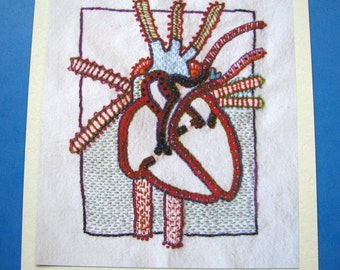 Graphic Valentine Heart Card
