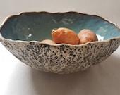 """Handmade 11"""" serving bowl Ceramic salad bowl Decorative bowl Fruit bowl Rustic Bowl"""