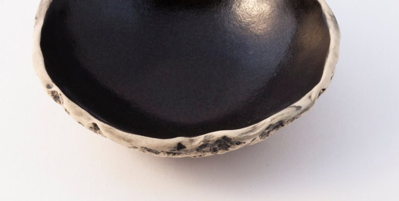 Sushi Sauce Dish Handmade Ceramic Tapas Bowl Snack Bowl Handmade Bowl Stoneware Small Bowl Black Tapas Bowl