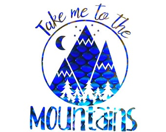 4307dcdf Mountains Sticker Decal, Mountain Sticker, Outdoors Decal, RV, Camping,  Traveling, Car Window, Laptop, Gift for Mom, Choose Size and Color