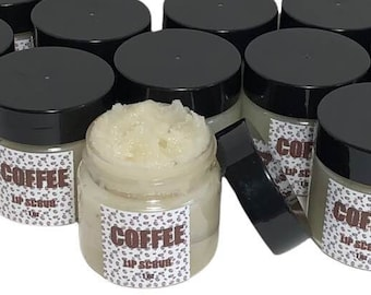 Coffee Sugar Lip Scrub, Coffee Lip Polish, Coffee Lip Scrub, 1oz, Exfoliating, Exfoliate, Hydrate, Lip Polish, Lip Care, Sugar Exfoliator
