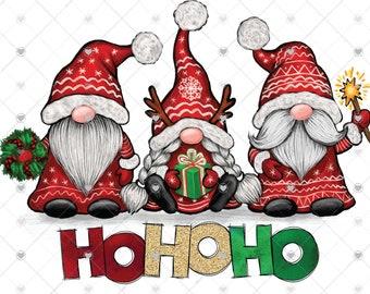 Ho Ho Ho Gnomes Christmas Sublimation Transfer, Ready to Press, Christmas Transfer, Gnome, Sublimation Design, Ready to Use, Holiday Sub