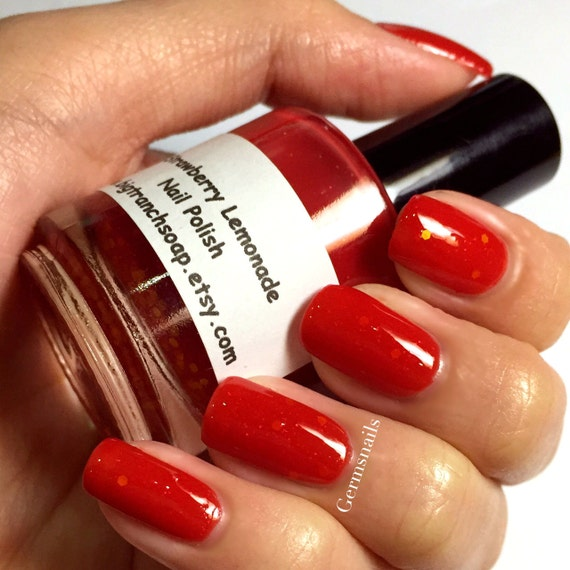 Color Changing Nail Polish Strawberry Lemonade Red to | Etsy