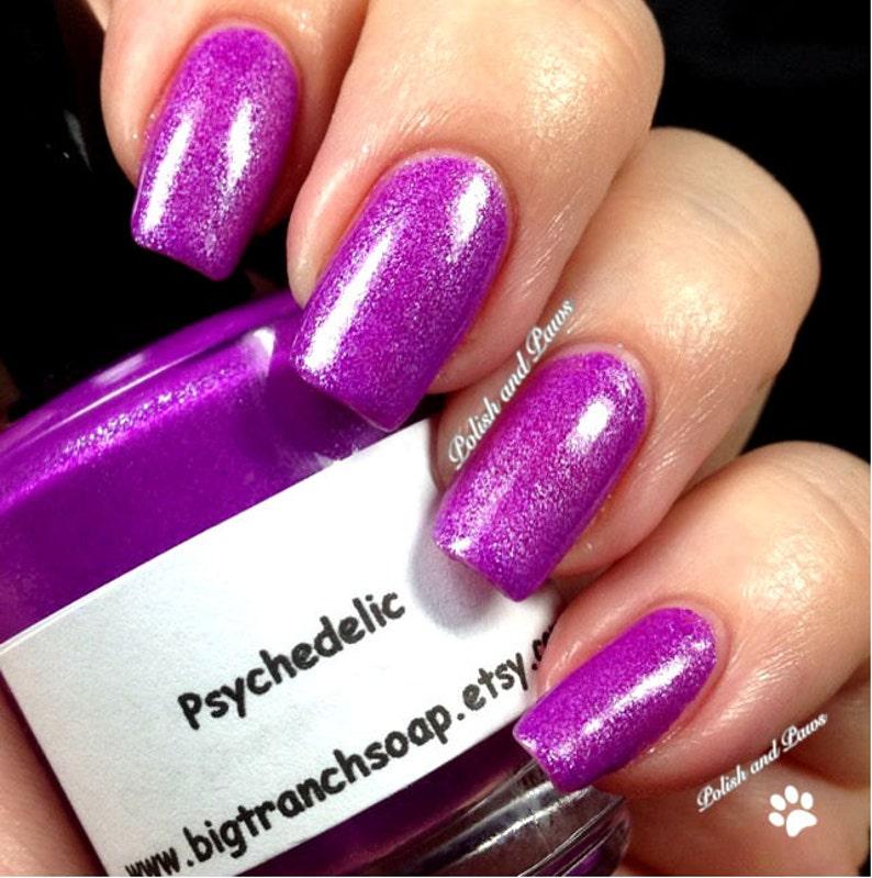 22ab9cbd972 Neon Purple Nail Polish Fluorescent PSYCHEDELIC Free U.S.