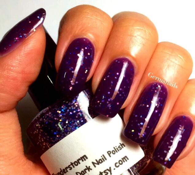 Color Changing Nail Polish Purple To Black