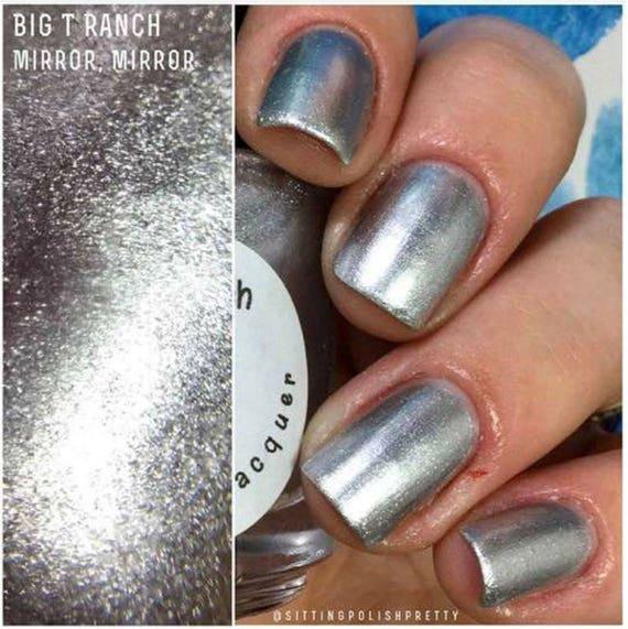 Silver Metallic Aluminum Nail Polish Mirror
