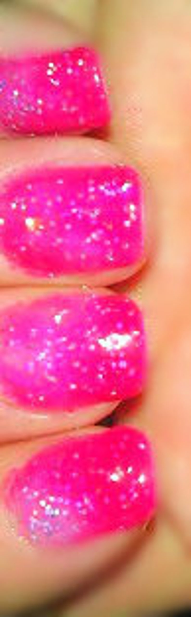 Color Changing Glitter Nail Polish Mood Nail Polish Cherry Etsy