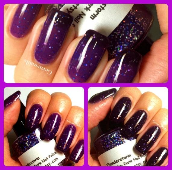 Color Changing Nail Polish Purple to Black | Etsy