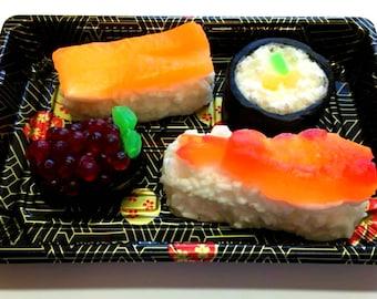 Sushi Soap Set - Food Soap, Gag Gift - Funny Gift - Shrimp - FEATURED in HUFFINGTON POST 2018 - Salmon Roll, Fake Food Soap, Sashim, Nigirii