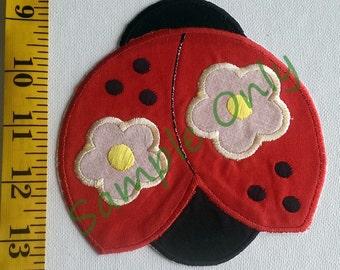 DIY Iron On Appliqué Patch - Lady Bug