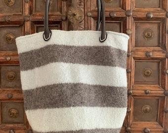 Charcoal & Seafoam/mint Farmers Market Bag