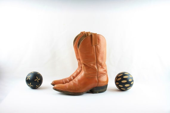 Size 8 Vintage Men Cowboy Boots-Handmade Laramie C