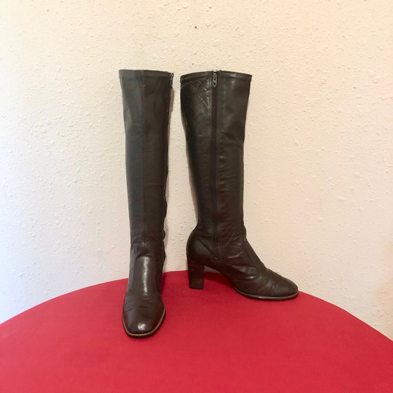 Vintage Boots-Size 5.5 Boots-Tall Boots-Vintage Wo