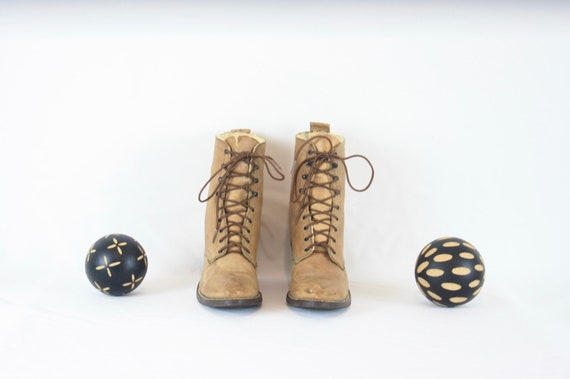 Vintage Ankle Boots. Size 8 Short Light Brown Gen… - image 2