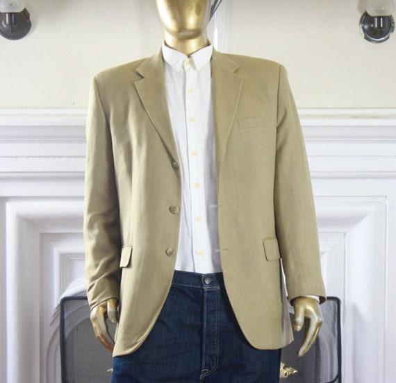Vintage Mens Sportcoat. Size 42L Tan 1980s Chaps 1
